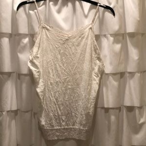 Coldwater Creek crinkle lace tank